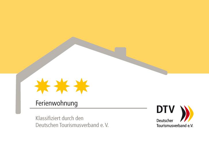 DTV-Klassifizierungsschild 3 Sterne Ferienwohnung